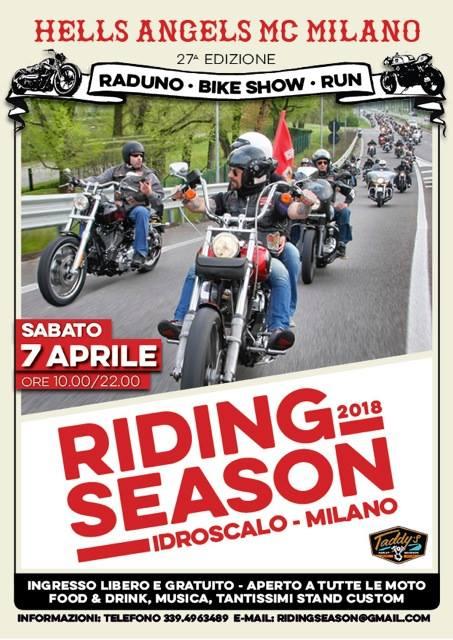Riding Season 2018 presso Idroscalo di Milano, Hells Angels Milano