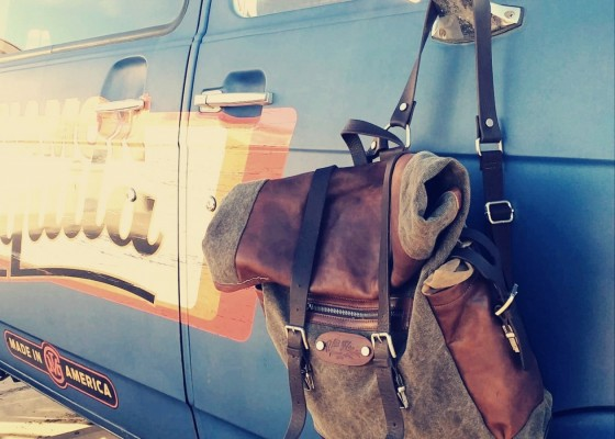 backpack, zaino, canvas and leather e pelle